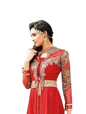 Thankar Semi Stitched  Georgette Embroidery Dress Material Tas272-S05