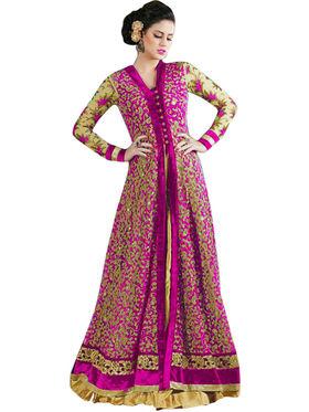 Thankar Semi Stitched  Net Embroidery Dress Material Tas273-4605D