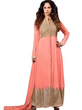 Thankar Semi Stitched  Silky Net Embroidery Dress Material Tas278-14018