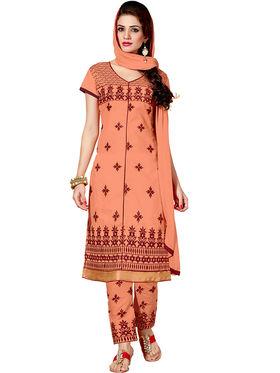 Thankar Semi Stitched  Cotton Embroidery Dress Material Tas280-2307
