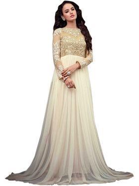 Thankar Semi Stitched  Net Embroidery Dress Material Tas281-79A