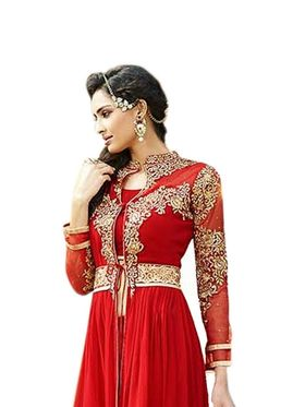 Thankar Semi Stitched  Georgette Embroidery Dress Material Tas285-711A