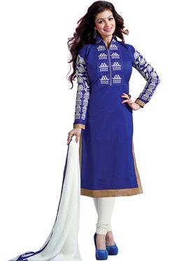 Thankar Semi Stitched  Chanderi Cotton Embroidery Dress Material Tas291-5306