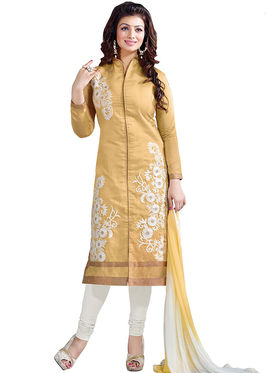 Thankar Semi Stitched  Chanderi Cotton Embroidery Dress Material Tas291-5308