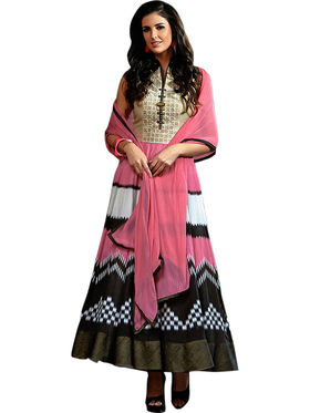 Thankar Semi Stitched  Georgette Embroidery Dress Material Tas298-5053