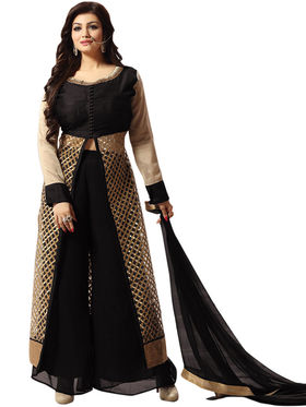 Thankar Semi Stitched  Pure Silk With Net  Embroidery Dress Material Tas306-11201
