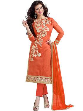 Thankar Semi Stitched  Chanderi Silk Embroidery Dress Material Tas308-6104