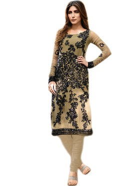 Thankar Semi Stitched  Faux Georgette Embroidery Dress Material Tas309-2078