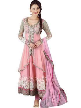 Thankar Semi Stitched  Net Embroidery Dress Material Tas314-19
