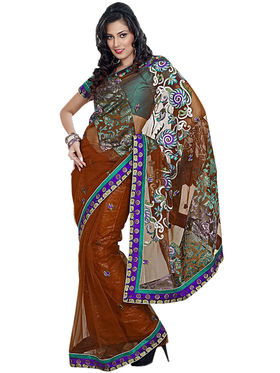 Triveni's Net Border Work Saree -TS38013b