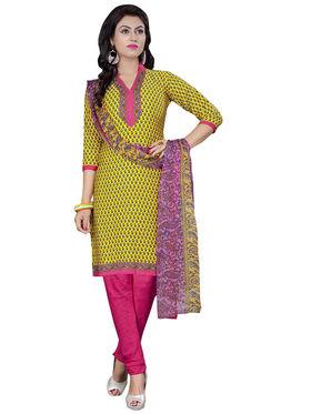 Triveni's Crape Printed Dress Material -TSLCSK9104