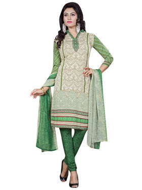 Triveni's Crape Printed Dress Material -TSLCSK9109