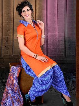 Viva N Diva Semi Stitched Cotton Lace Work Embellished Suit Tanaz-103