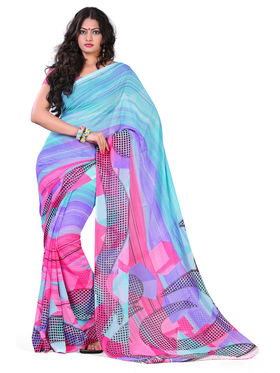 Variation Georgette Printed Saree -VD16424