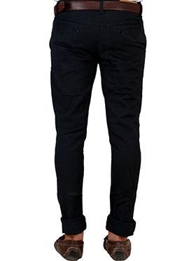 Velgo Club Plain Comfort Fit Cotton Lycra Chinos - Jet Black