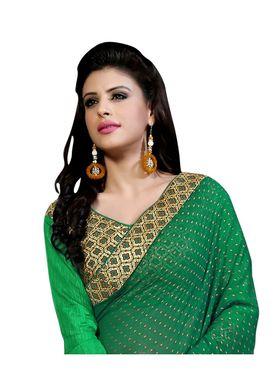 Khushali Fashion Embroidered Georgette Half & Half Saree_KF17