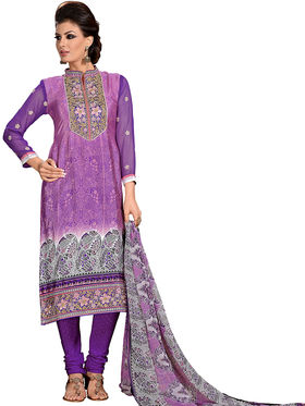 Khushali Fashion French Crepe Embroidered Dress Material -Vrvmtr6003