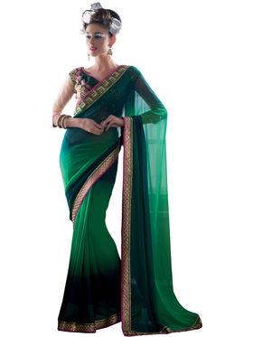 Viva N Diva Georgette Embroidered Saree Vanisha-2154
