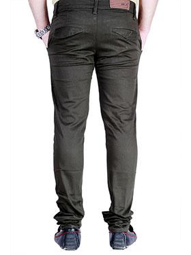 Velgo Club Plain Comfort Fit Cotton Lycra Chinos - Green