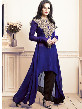 Viva N Diva Bamberg Georgette Embroidered Kurti - Blue - VND-1063