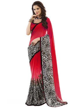Nanda Silk Mills Fancy Printed Saree_Vr-1176