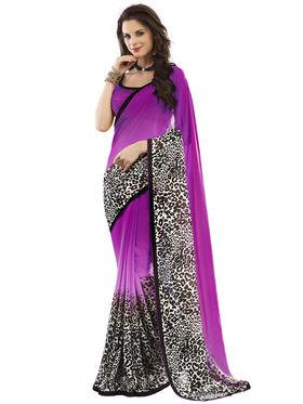 Nanda Silk Mills Fancy Printed Saree_Vr-1180
