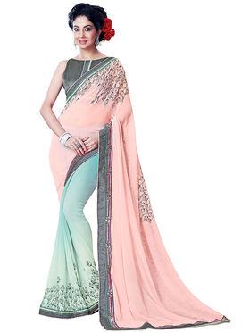 Nanda Silk Mills Fancy Print &Georgette  Party Wear Saree_WOMANIYA-3804