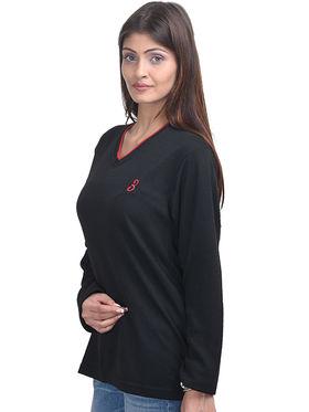 Eprilla Spun Cotton Plain Full Sleeves Sweater  -eprl31