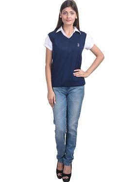 Eprilla Spun Cotton Plain Sleeveless Sweater  -eprl03