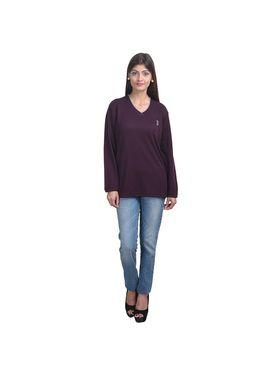Pack of 3 Eprilla Spun Cotton Plain Full Sleeves Sweaters -eprl48