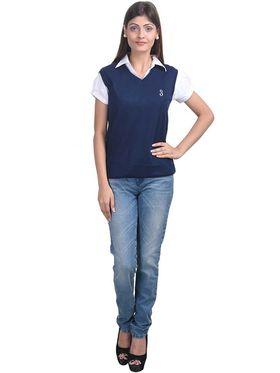 Pack of 3 Eprilla Spun Cotton Plain Sleeveless Sweaters -eprl23