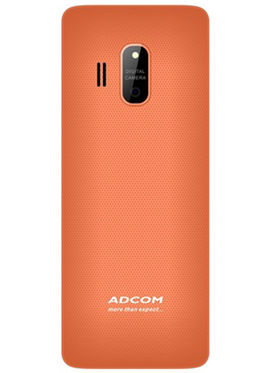 Adcom Trendy X17 Dual Sim Mobile- White & Orange