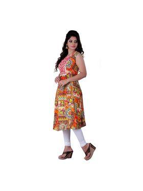 Viva N Diva Cotton Rayon Printed Kurtis -Zeesha-Vnd-2004-B