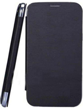 Feomy Flip Cover For Micromax A76   Black available at Naaptol for Rs.177