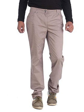 imFab Plain Cotton Chinos for Men -Tan