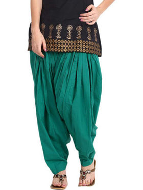 Javuli Plain Pure Cotton Semi Patiala Salwar-ja55