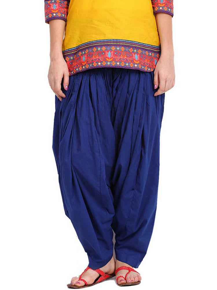 Buy Javuli Plain Pure Cotton Semi Patiala-ja36 Online at