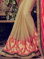 Indian Women Embroidered Paper Silk Multicolor Designer Saree -MG12303