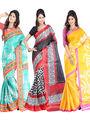 Combo Of 3 Carah Bhagalpuri Printed Saree_CRH-N303