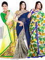 Pack of 3 Zoom Fabrics Embroidered Saree_3235 ,3162 ,2987