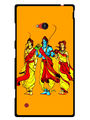 Snooky Designer Print Hard Back Case Cover For Nokia Lumia 720 - Yellow