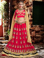 Viva N Diva Embroidered Georgette Peach Lehnega Choli -19088-Gharana