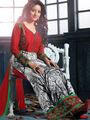 Adah Fashions Cotton Embroidered A-Line Salwar Suit - Multicolor - 667-14006