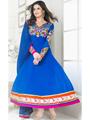 Adah Fashions Designer Georgette Semi-Stitched Suit - Blue