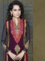 Adah Fashions Faux Georgette Embroidered Semi Stitched Dress Material - Multicolour - 597-8007