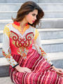 Adah Fashions Georgette Embroidered Semi Stitched Suits - Pink - 555-209A