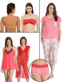 Pack of 8 Clovia Nightwear Set With Free Panty-Combns100