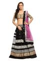 Designer Sareez Net Embroidered Lehenga - Black