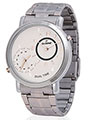 Dezine Wrist Watch for Men - Off White_DZ-GR030-slv-CH