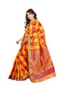Ishin Banarasi Poly Silk Saree - Orange